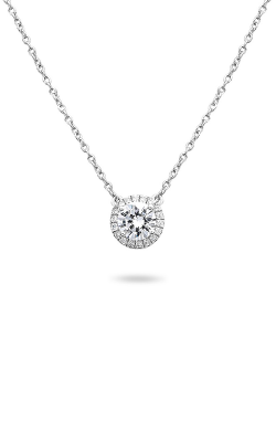 Roman And Jules Pave Diamond Halo Semi Mount Necklace MN807C-1 product image