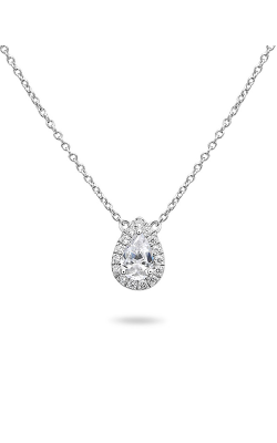 Roman And Jules Pave Diamond Halo Semi Mount Necklace MN807-1 product image