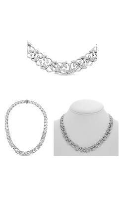 Roman and Jules Fashion Label Necklace KN3172W product image
