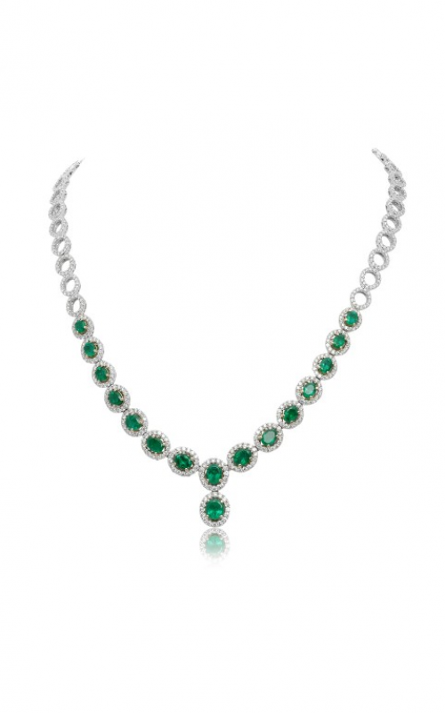 Roman and Jules Color Label Necklace GN2389WYEM-18K product image