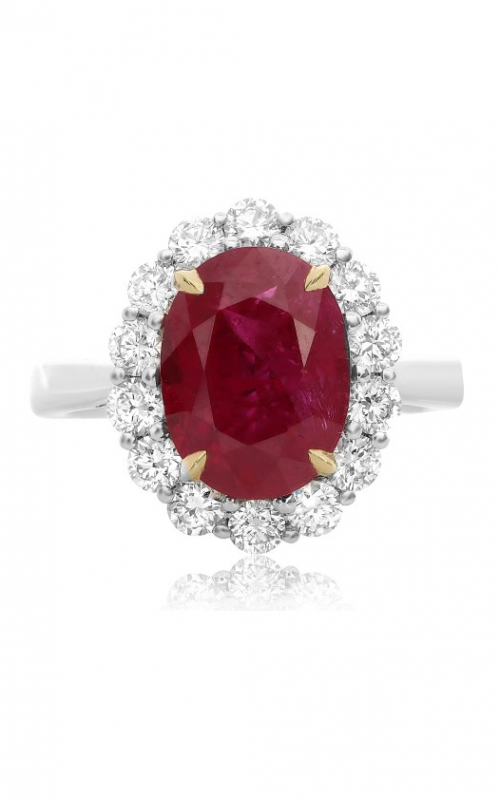 Roman and Jules Color Label Ring KR3732WYRB-18K product image