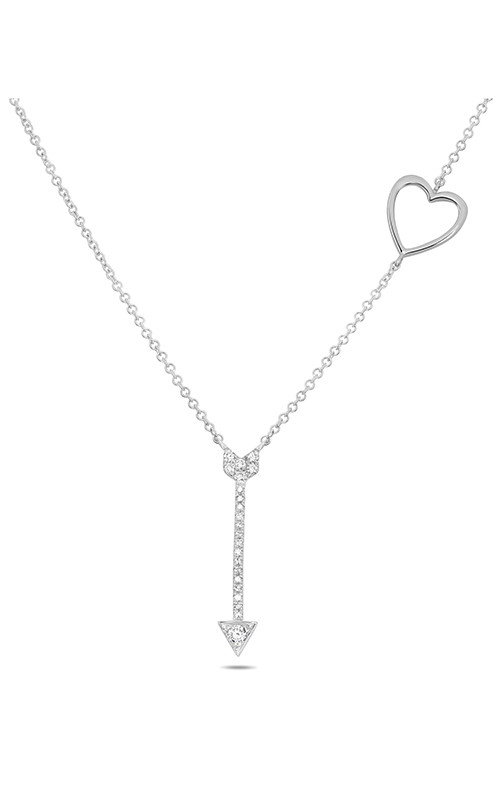 Roman and Jules Diamond Pave Heart & Arrow Necklace EN1043-1 product image