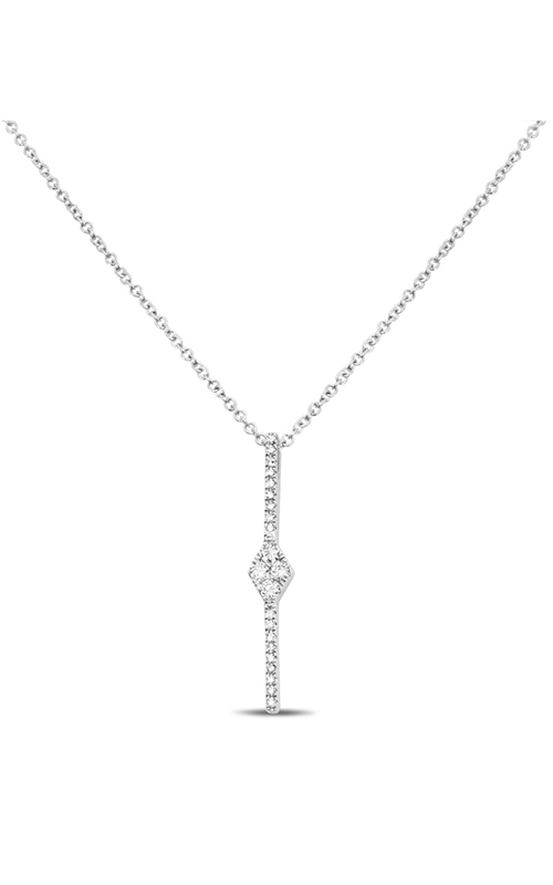 Roman and Jules Diamond Pave Bar Drop Necklace EN1045-1 product image