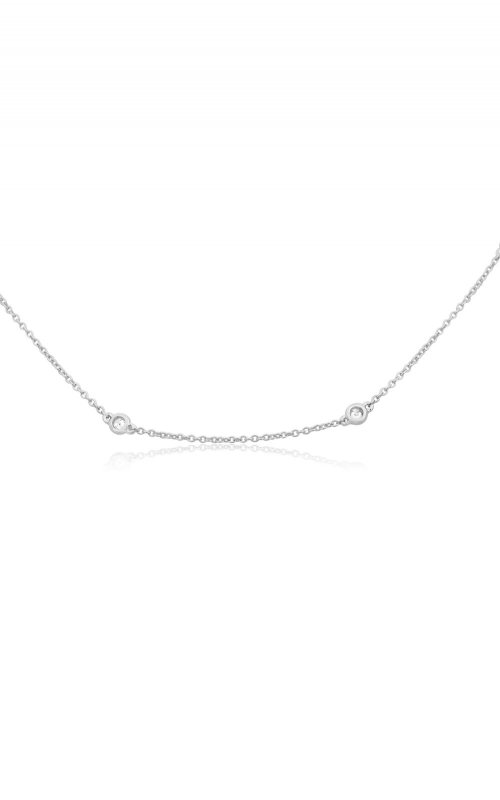 Roman and Jules Adjustable White Diamond Bezel Necklace UN1734-2 product image