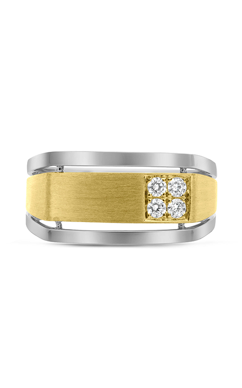Roman and Jules White & Yellow Gold Men's Diamond Cluster Band GR2929-1 product image