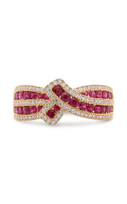 Roman and Jules White Gold Sapphire & Diamond Ribbon Ring UR2118-2 product image