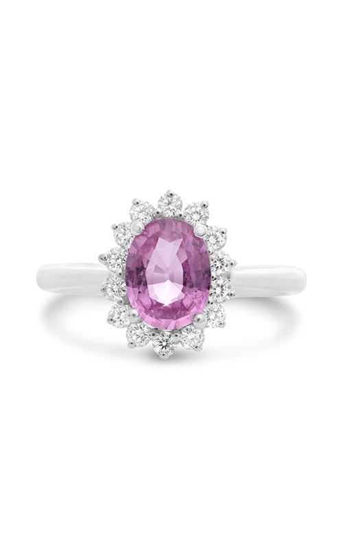 Roman and Jules Oval Pink Sapphire Halo Ring MR500-99 product image