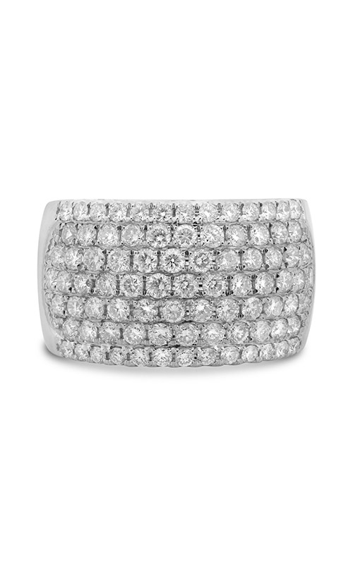 Roman and Jules White Gold Seven Row Half Pave Band NR894-14 product image
