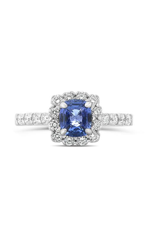 Roman and Jules Cushion Cut Blue Sapphire & Diamond Ring KR1681W-8 product image