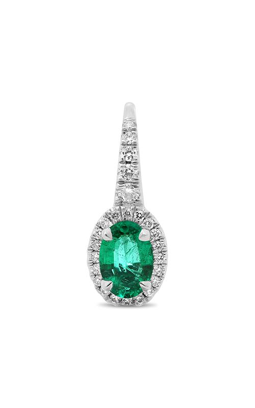 Roman and Jules Oval Emerald Halo Drop Earrings KE5902-10 product image