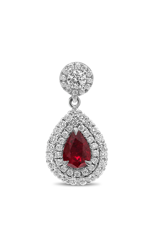 Roman and Jules Double Halo Ruby Drop Earrings ME631-19 product image