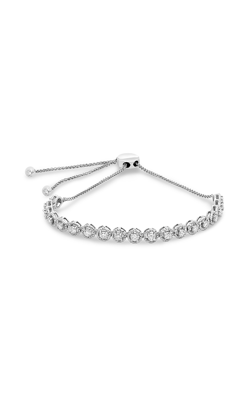 Roman and Jules White Diamond Braided Bolo Bracelet MB759-1 product image