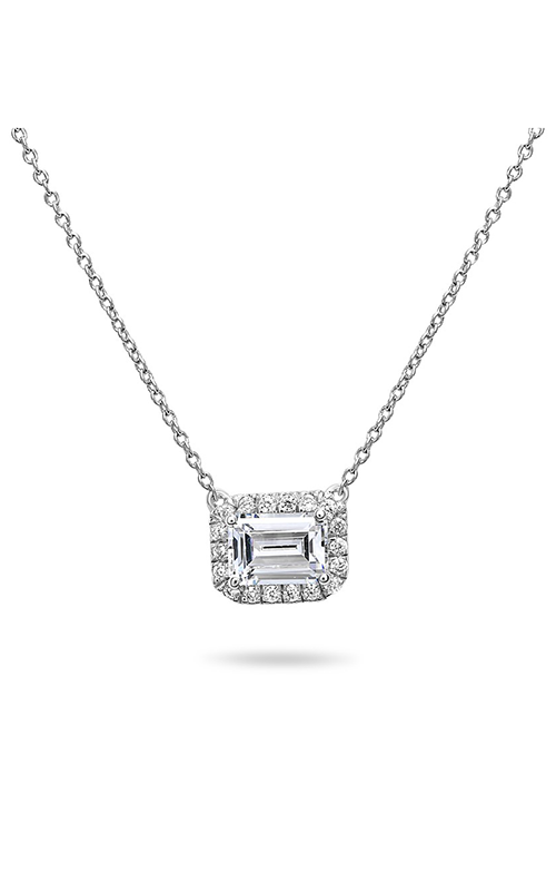 Roman And Jules Pave Diamond Halo Semi Mount Necklace MN807A-2 product image