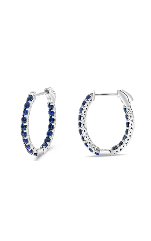 Roman And Jules Blue Sapphire Oval Hoop Earrings ME871-1 product image