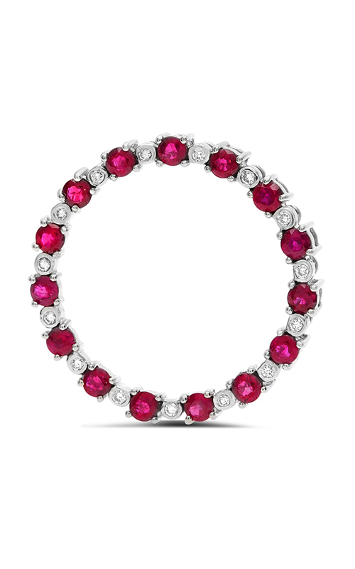 Roman And Jules Ruby And Diamond Open Circle Of Life Pendant GP2650-3 product image