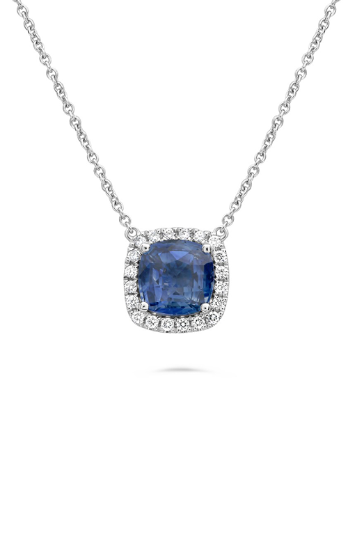 Roman And jules Cushion Cut Sapphire Necklace MN807E-1 product image
