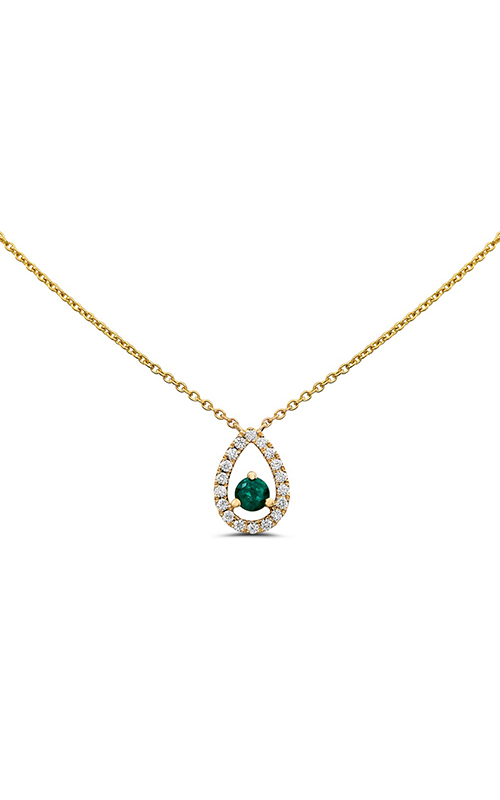 Roman and Jules Rose Gold Emerald & Diamond Necklace UN2061-7 product image