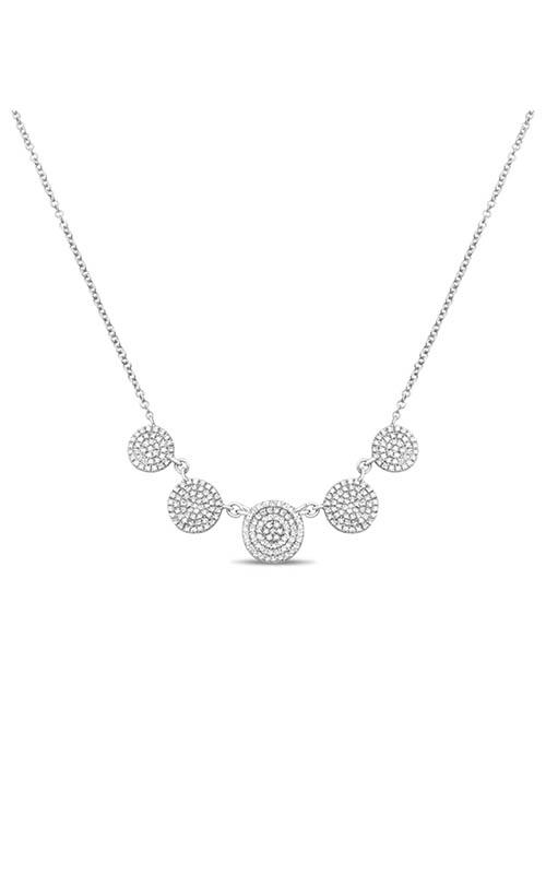 Roman and Jules Five Circle Diamond Pave Necklace EN1048-1 product image