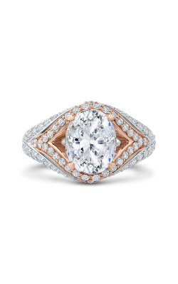 Shah Luxury Carizza Boutique Engagement Ring QRO0066EQK-40WP-3.00 product image