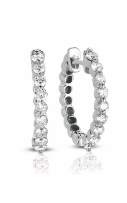 S Kashi & Sons Hoop Earrings E7665WG product image