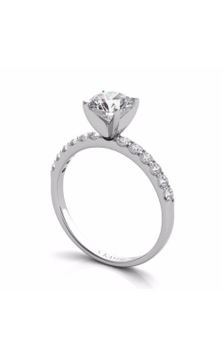 S Kashi & Sons Side Stone - Prong Set Engagement Ring EN6593WG product image