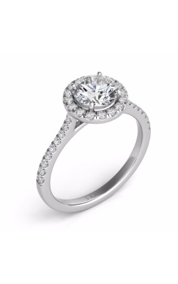 S Kashi & Sons Halo Engagement Ring EN7370-1WG product image