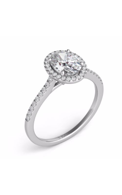 Deutsch & Deutsch Bridal Halo Engagement Ring EN7512-6X4MWG product image