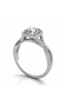 Deutsch & Deutsch Bridal Criss Cross Engagement ring EN7333-1WG product image