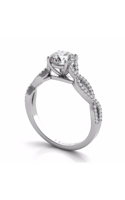 Deutsch & Deutsch Bridal Criss Cross Engagement ring EN7325-1WG product image
