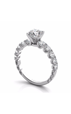 S Kashi & Sons Side Stone Engagement Ring EN7583WG product image