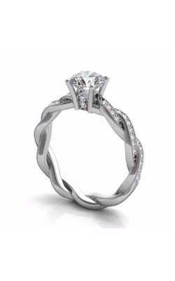 S. Kashi and Sons Braided Engagement Ring EN7472-1WG product image