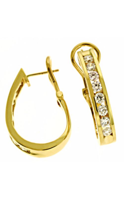 S Kashi & Sons Hoops Earring E1357YG product image