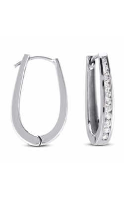 S. Kashi and Sons Hoop Earrings E7626WG product image