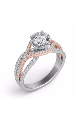 S. Kashi and Sons Cross Over Engagement Ring EN7592-1RDRW product image
