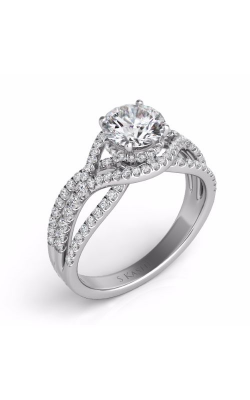 S. Kashi and Sons Cross Over Engagement Ring EN7592-1RDWG product image