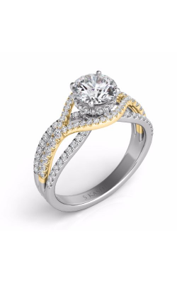 S. Kashi and Sons Cross Over Engagement Ring EN7592-1RDYW product image