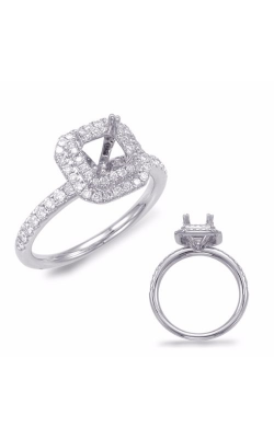 Deutsch & Deutsch Bridal Halo Engagement Ring EN7678WG product image
