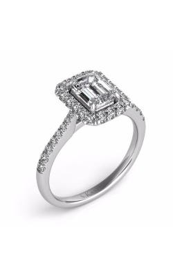 Deutsch & Deutsch Bridal Halo Engagement Ring EN7597-8X6MWG product image