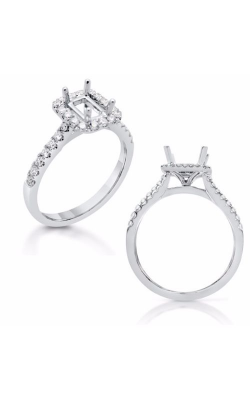 Deutsch & Deutsch Bridal Halo Engagement Ring EN7598-6X4MWG product image