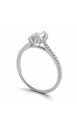 Deutsch & Deutsch Bridal Halo Engagement Ring EN7599-8X4MWG product image