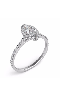 Deutsch & Deutsch Bridal Halo Engagement Ring EN7599-9X4.5MWG product image