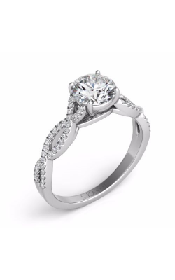 Deutsch & Deutsch Bridal Criss Cross Engagement ring EN7325-30WG product image