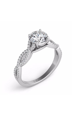 Deutsch & Deutsch Bridal Criss Cross Engagement ring EN7325-50WG product image