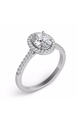 Deutsch & Deutsch Bridal Halo Engagement Ring EN7543-6X4MWG product image