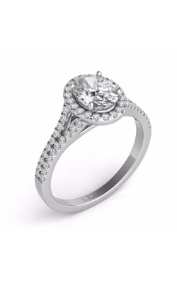 Deutsch & Deutsch Bridal Halo Engagement Ring EN7555-8X6MWG product image