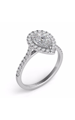 Deutsch & Deutsch Bridal Halo Engagement Ring EN7569-6X4MWG product image