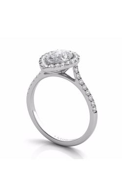 Deutsch & Deutsch Bridal Halo Engagement Ring EN7569-8X5.5MWG product image