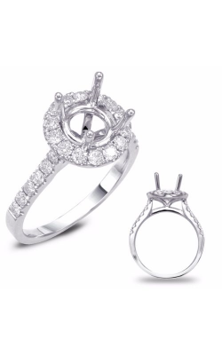 Deutsch & Deutsch Bridal Halo Engagement Ring EN7694-1WG product image