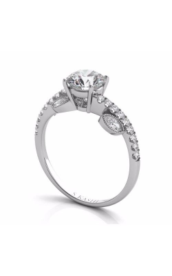 S Kashi & Sons Side Stone Engagement Ring EN7522-1WG product image