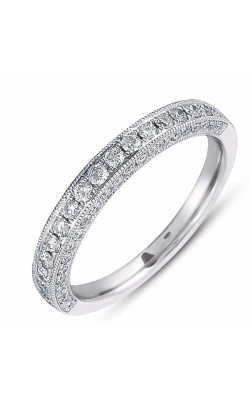 S Kashi & Sons Prong Set Wedding band EN7085-BWG product image